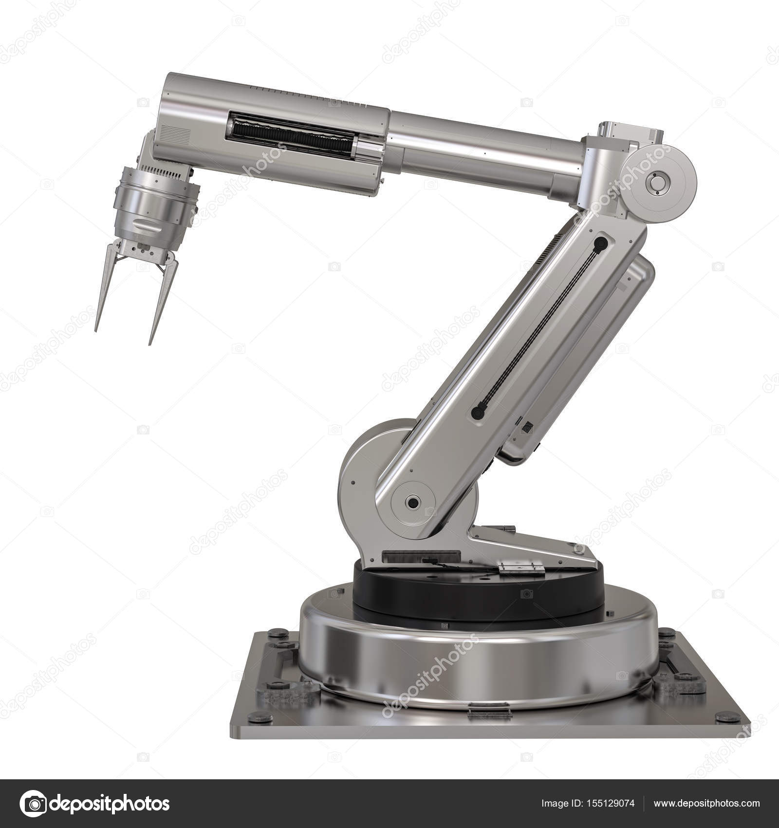 metal robot arm on white background — Stock Photo © phonlamai #155129074