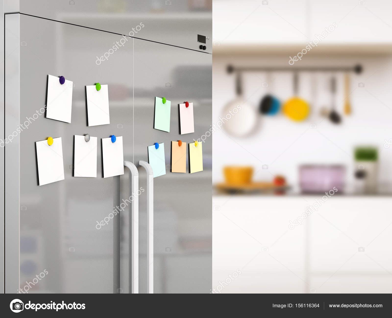 Kühlschrank Magnete : Leere notizen mit kühlschrank magnete u2014 stockfoto © phonlamai #156116364