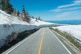 road to snow mountain