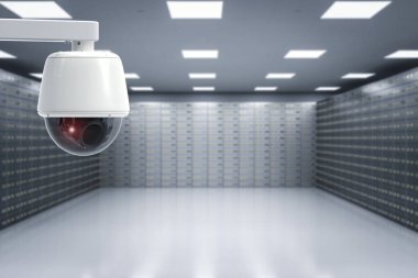 security camera in safe deposit boxes room