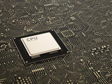 cpu on circuit board