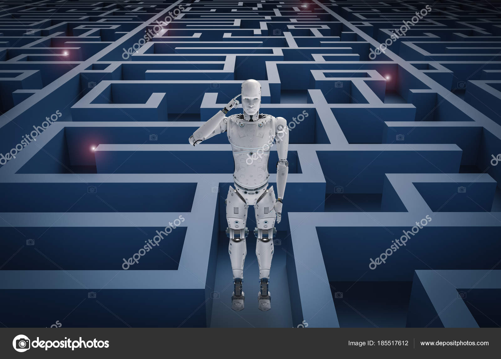 Fotos Laberintos Dificiles Robot En Laberinto Foto De Stock