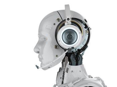 robot wear headset