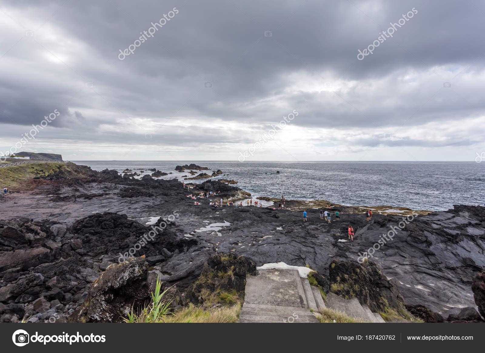 Mosteiros Beach Sao Miguel Island Azores Stock Photo