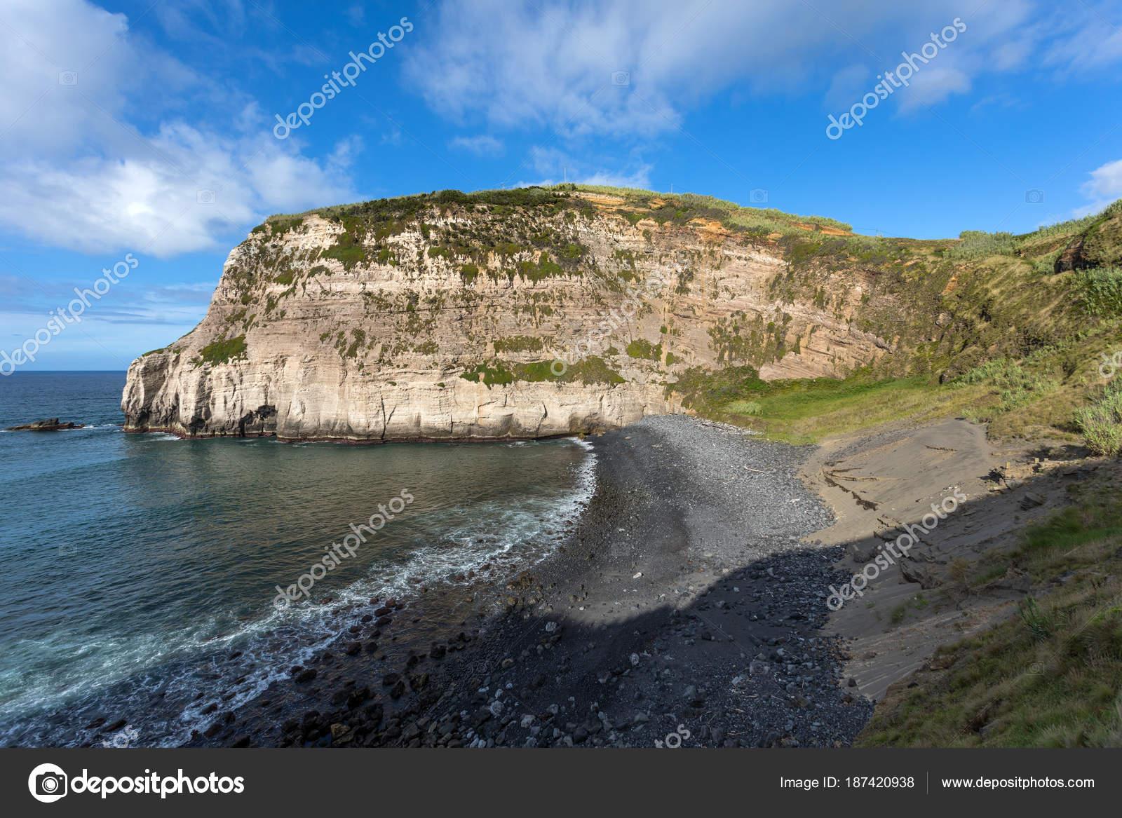 Schoner Strand Auf Der Insel Sao Miguel Azoren Portugal Stockfoto