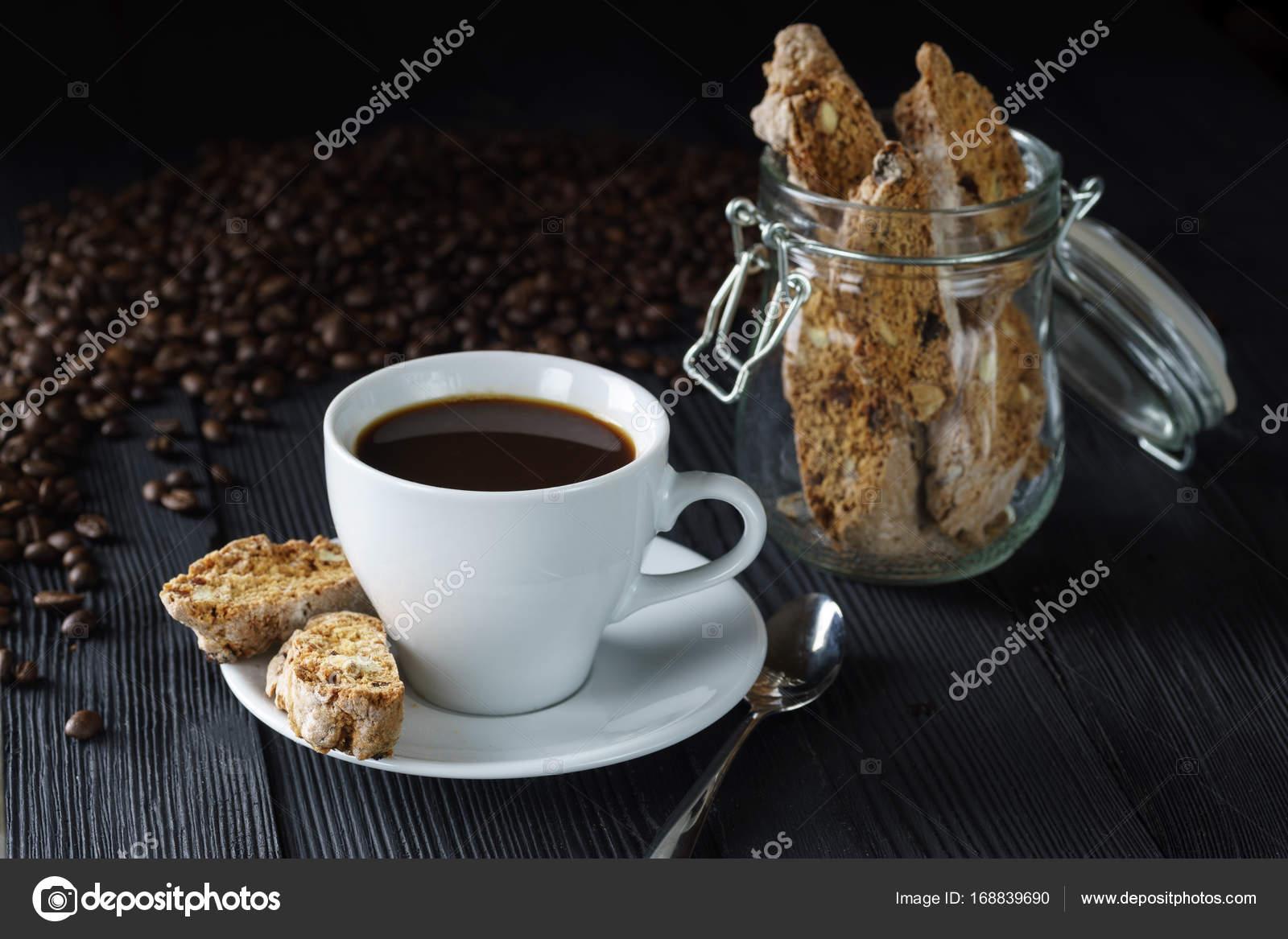 Guten Morgen Konzept Tasse Espresso Kaffeemaschine Mit