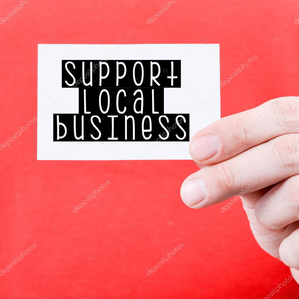 Support local business card stock photo roobcio 128170012 support local business card stock photo colourmoves