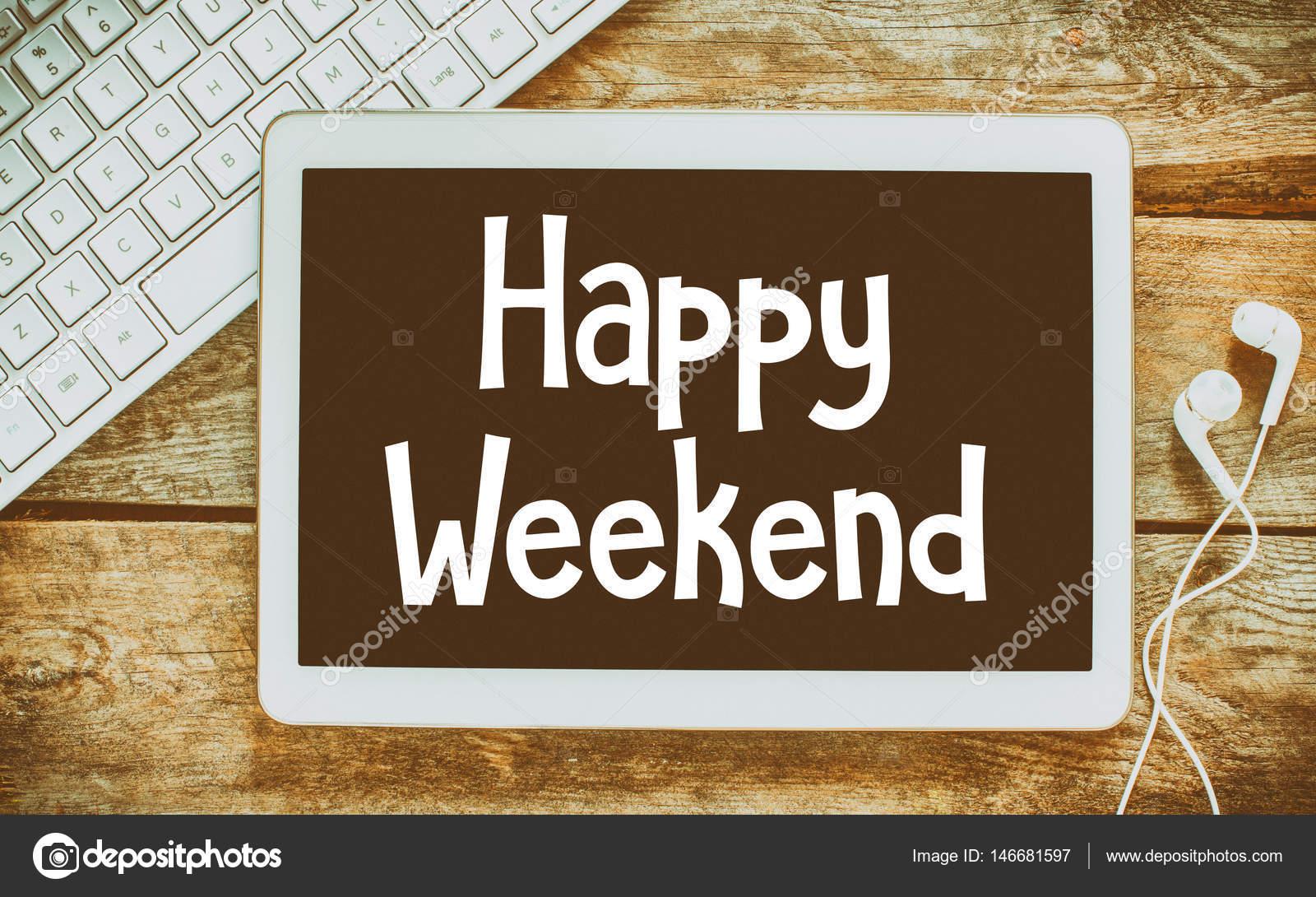Feliz fin de semana en pizarra enmarcado — Fotos de Stock © roobcio ...