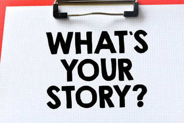 whats your story writing on paper