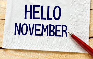 hello november sign