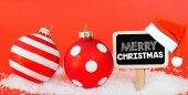 Veselé Vánoce znamení a vánoční koule