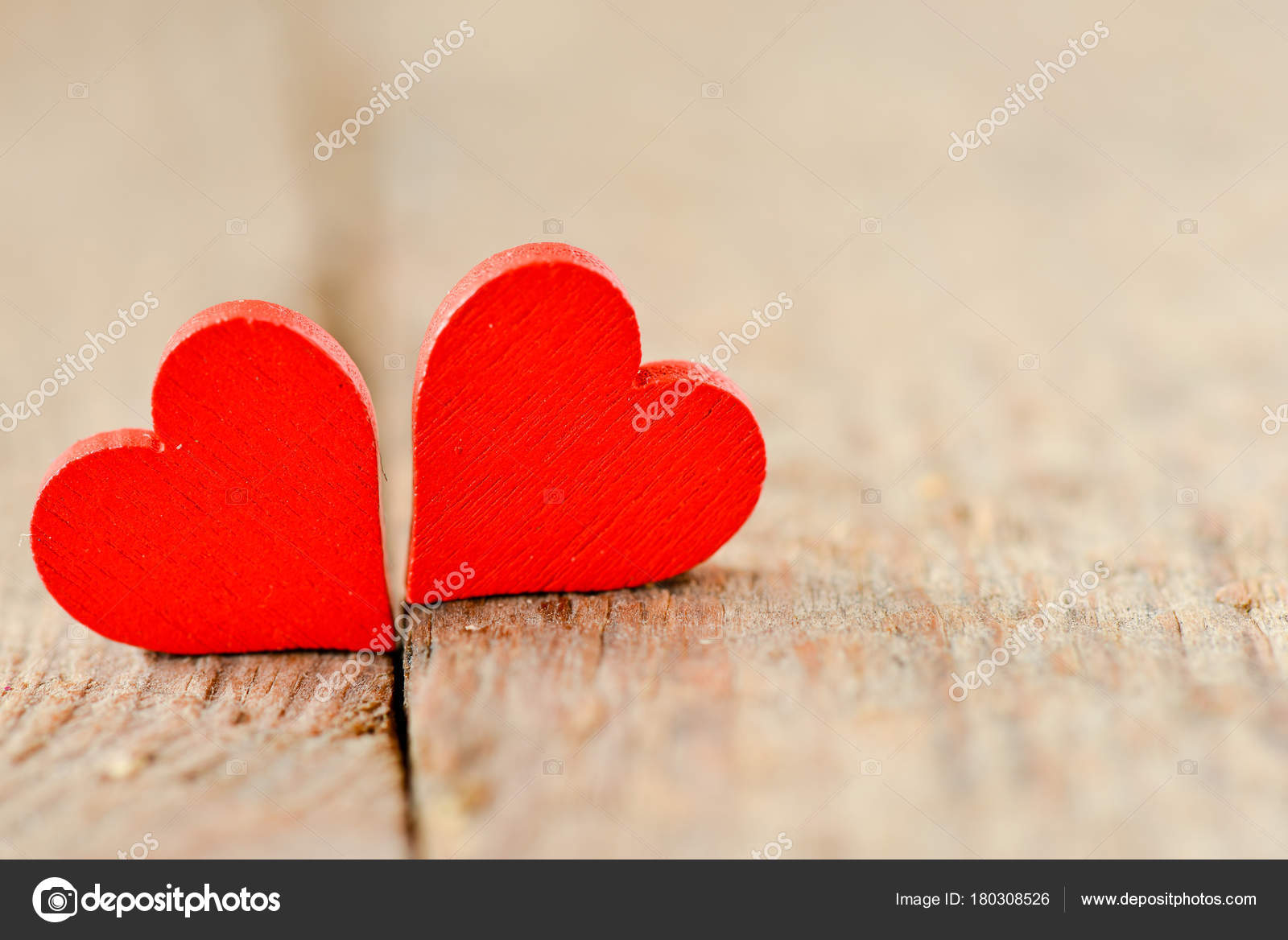 Herz Auf Einem Holzernen Hintergrund Hintergrund Stil Der