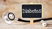 Pojetí medicíny. Tabule s slovo diabetes a stetoskopem