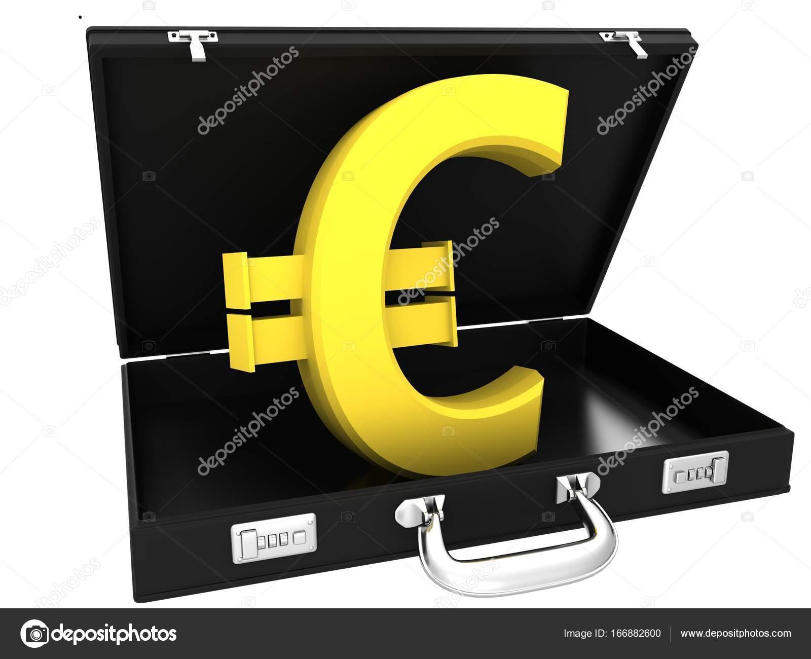 748519e6b 3D znak euro v černé pouzdro — Stock Fotografie © lina0486 #166882600