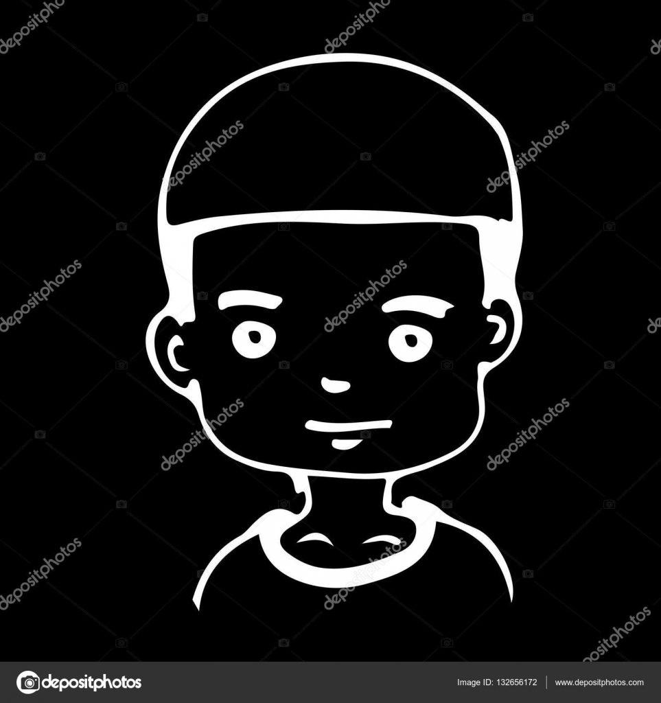 Hand draw avatar of boy icon stock vector porjai 132656172