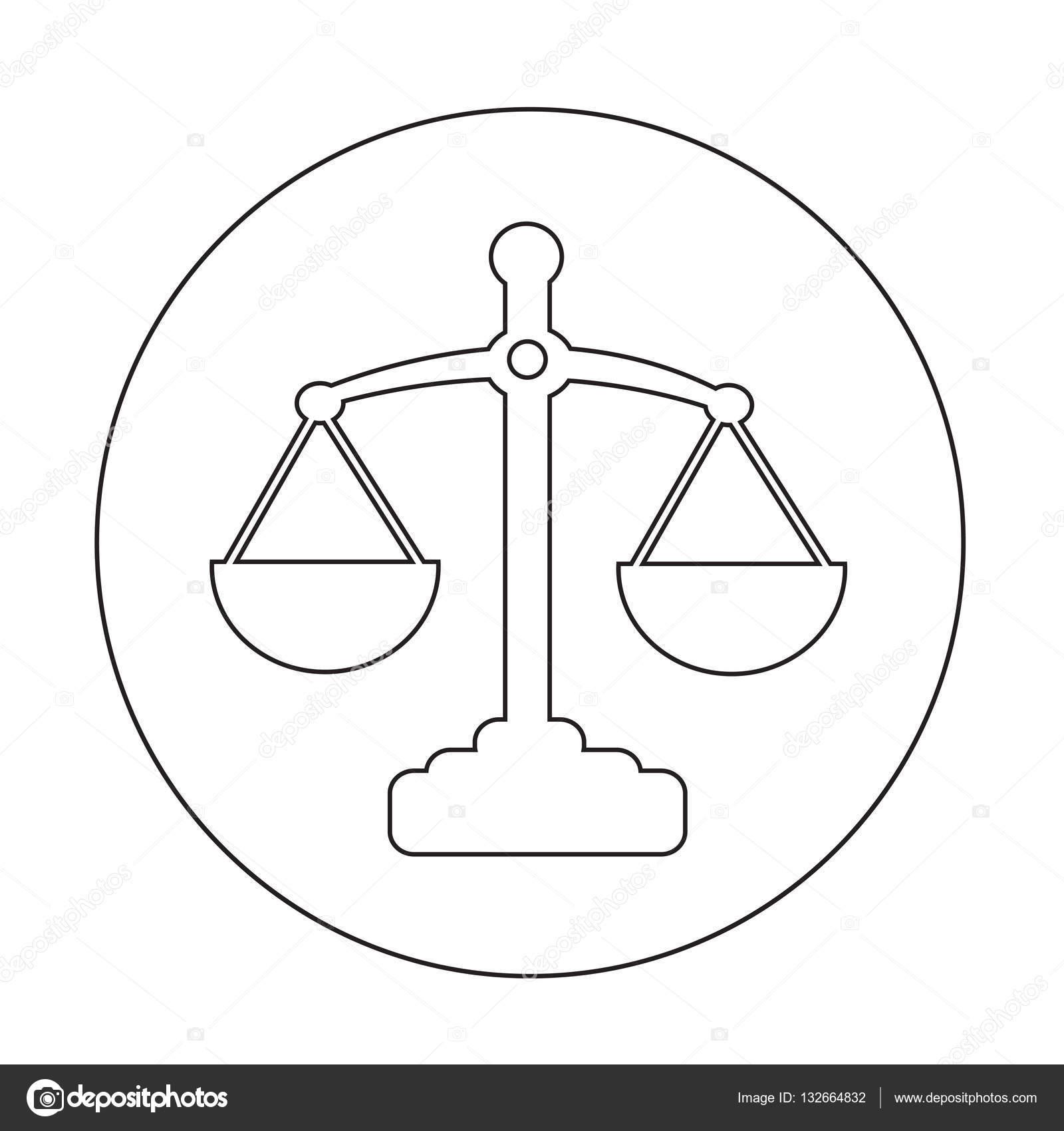 Scale Di Disegno Dellicona Di Giustizia Vettoriali Stock Porjai