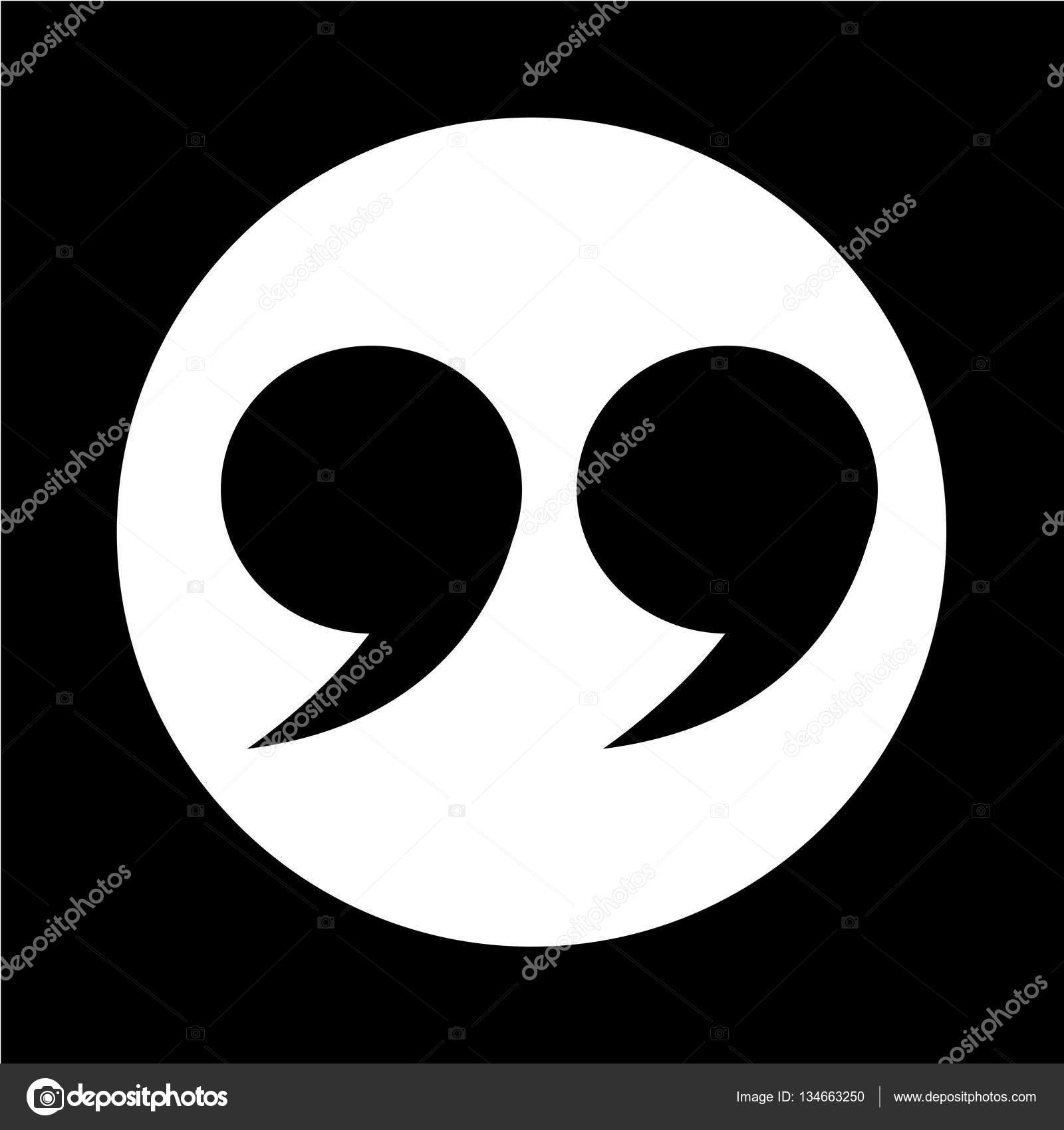 Quotation Mark Symbol Icon Illustration Design Stock Vector