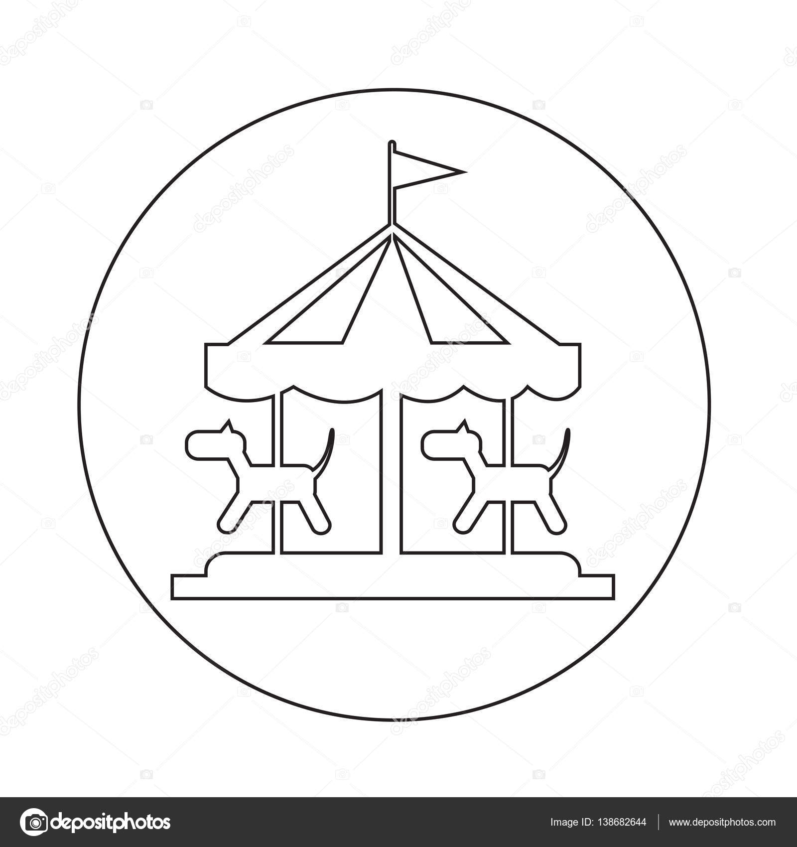Carousel Simple Icon Stock Vector C Porjai 138682644