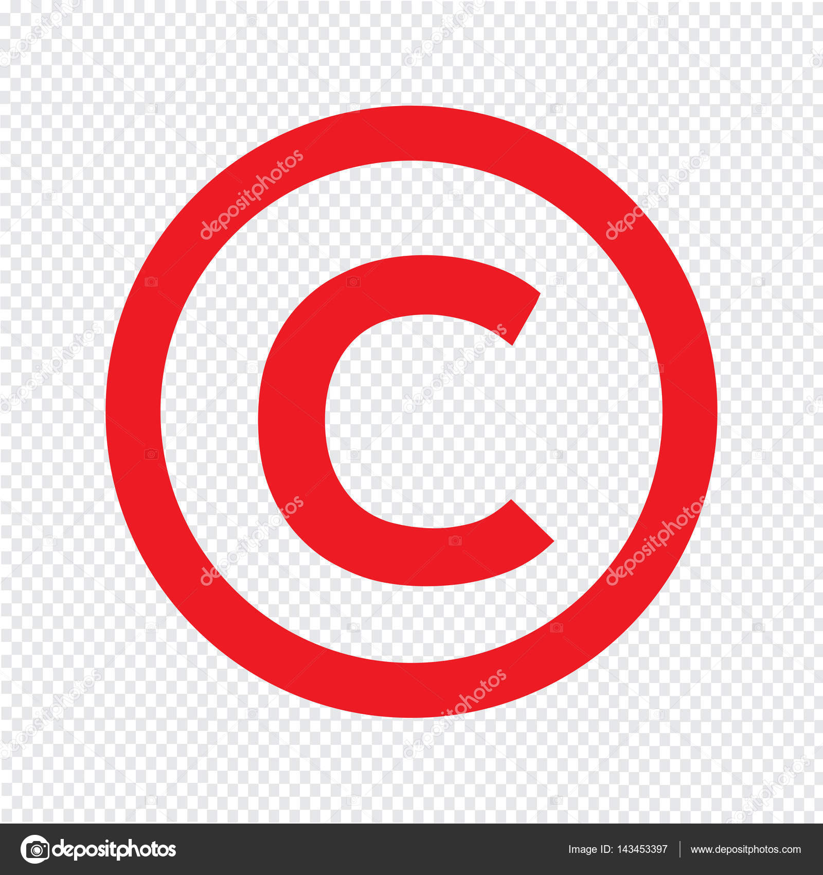 Copyright Symbol Icon Stock Vector Porjai 143453397