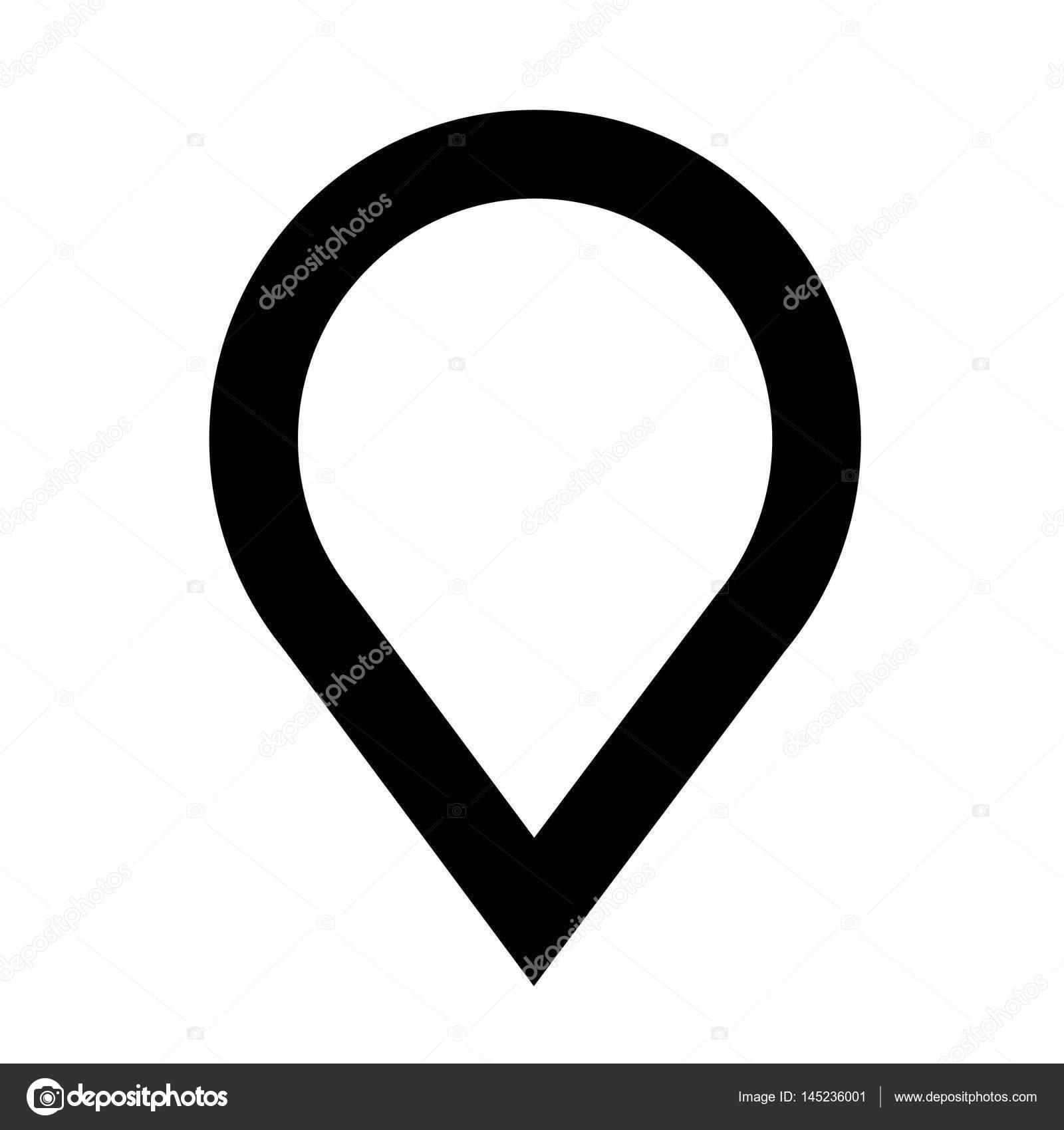 map pointer gps icon stock vector porjai 145236001