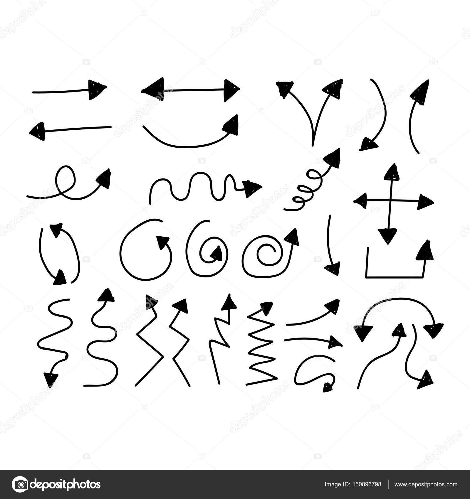 hand drawn arrow stock vector porjai 150896798