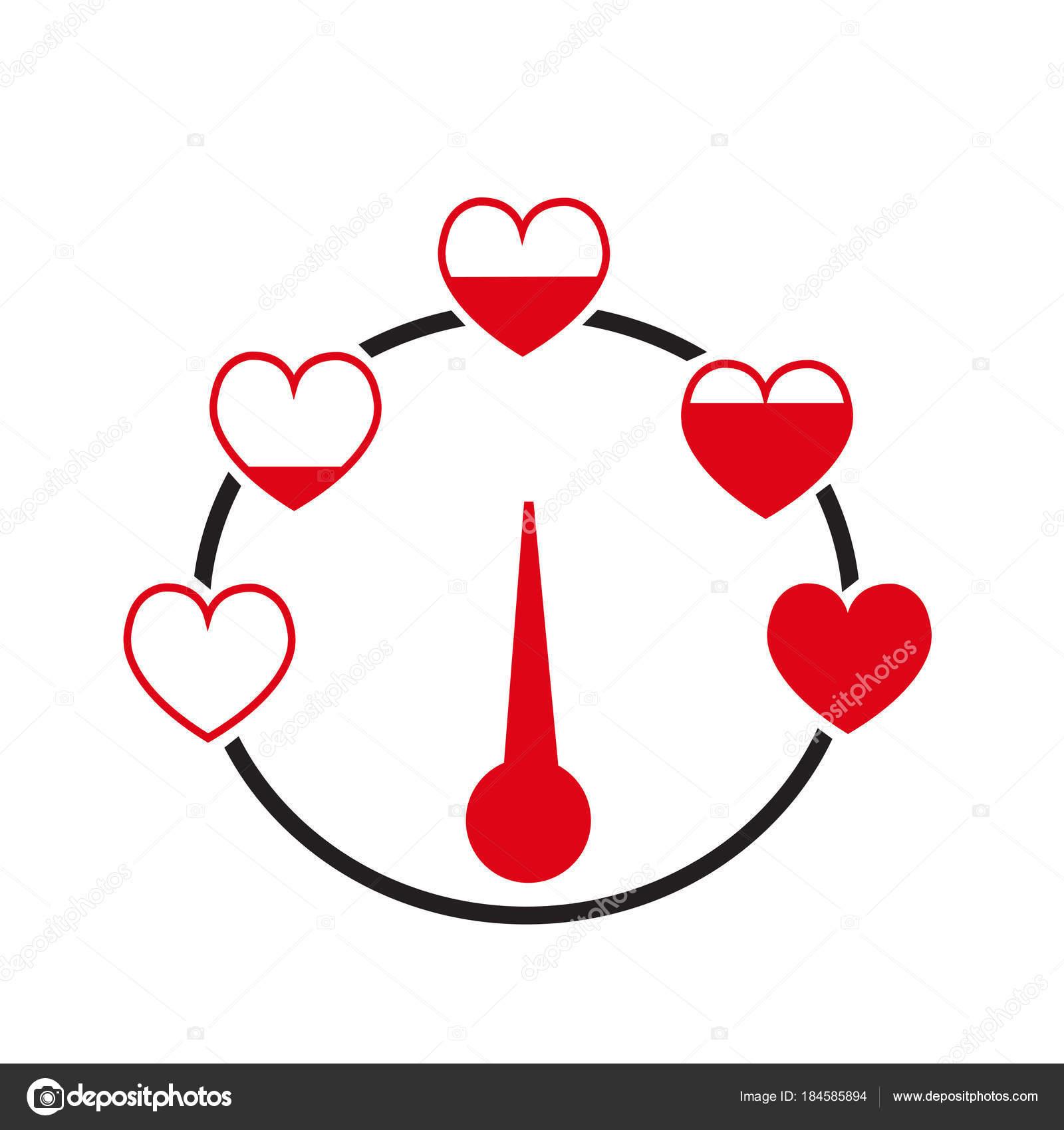 valentine day card idea love meter stock vector porjai 184585894