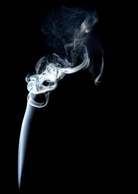Smoke isolated on Black Background Texture