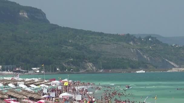 Golden Sands beach Zlatni Piasci in Bulgaria.
