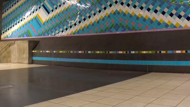 Stanice metra. Umění v metru. Stockholm. Švédsko