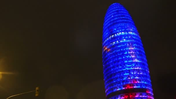 Torre Agbar in Barcelona. Spain. Night.