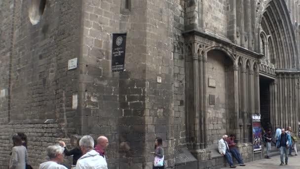 Gotické čtvrti Barcelony. Španělsko