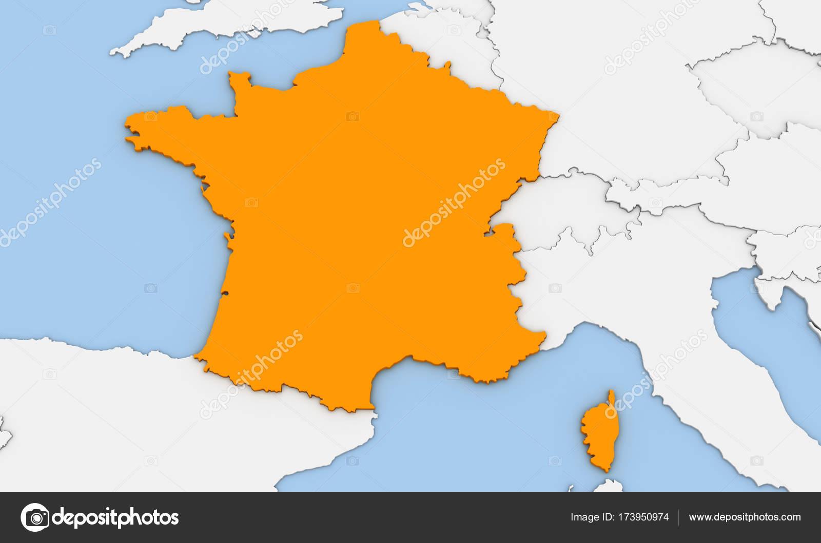 3d render of abstract map of france foto de stock oorka5 173950974 3d render of abstract map of france highlighted in orange color foto de oorka5 gumiabroncs Images