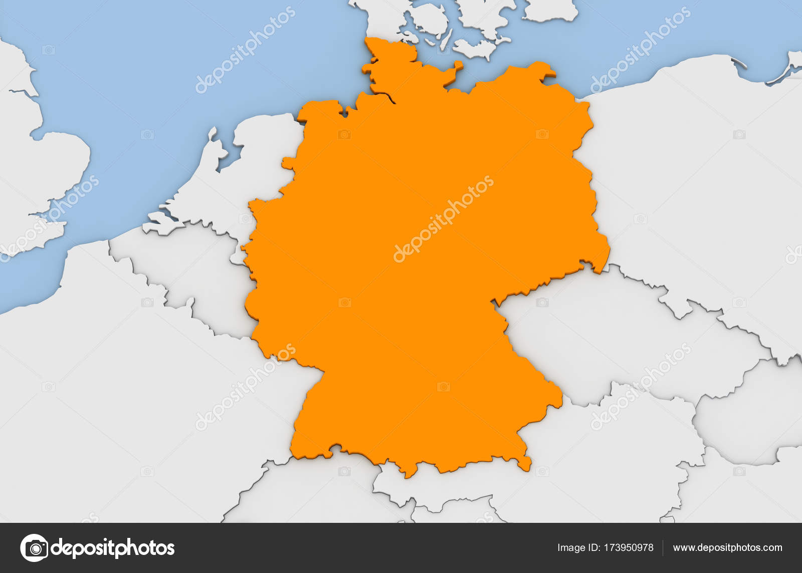 Map Of Germany 3d.3d Render Of Abstract Map Of Germany Stock Photo C Oorka5 173950978
