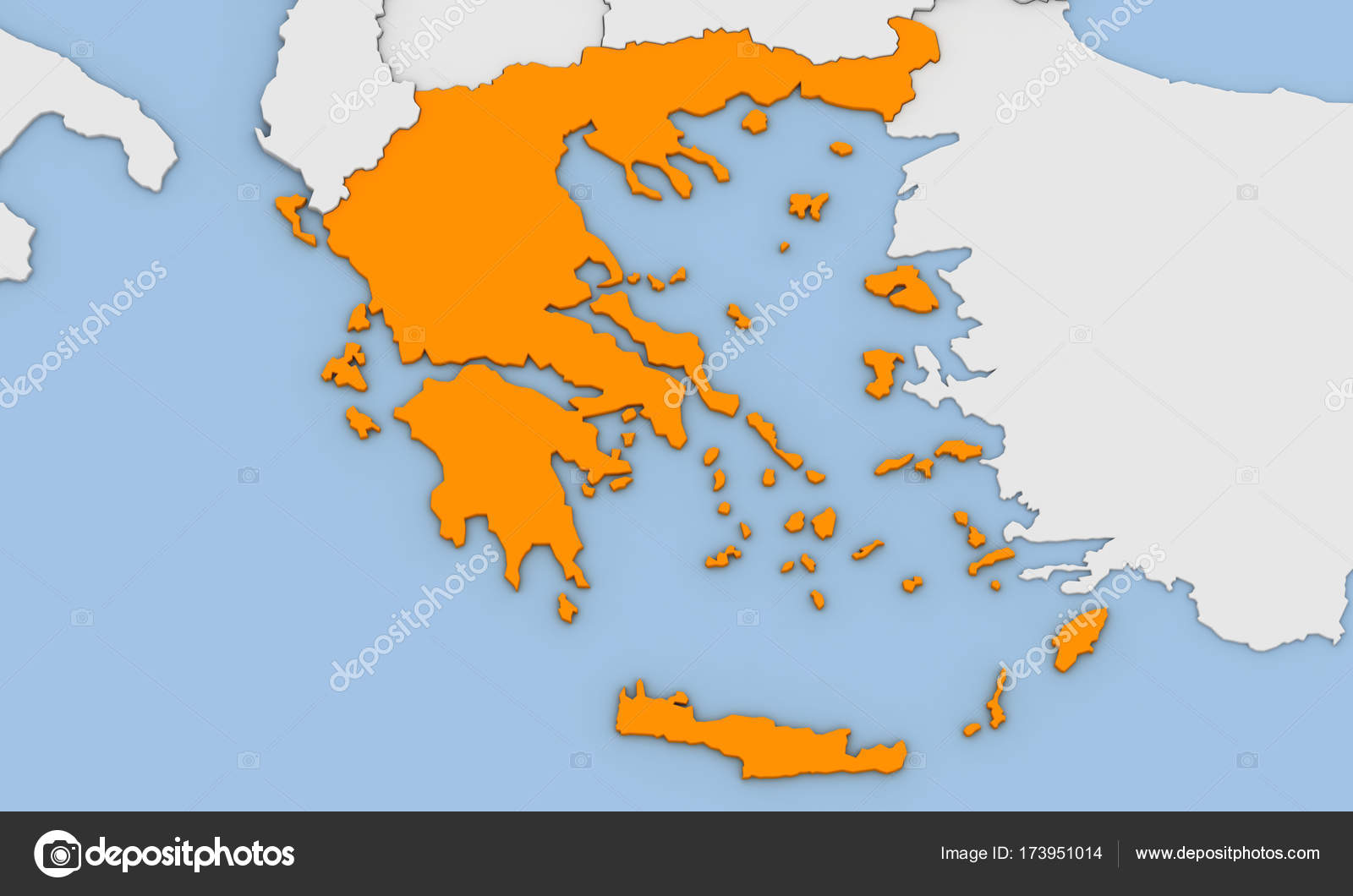 3d render of abstract map of greece stock photo oorka5 173951014 3d render of abstract map of greece highlighted in orange color photo by oorka5 gumiabroncs Choice Image