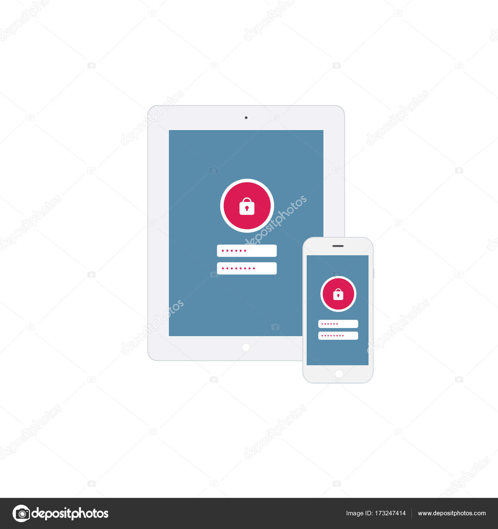 on screen lock button