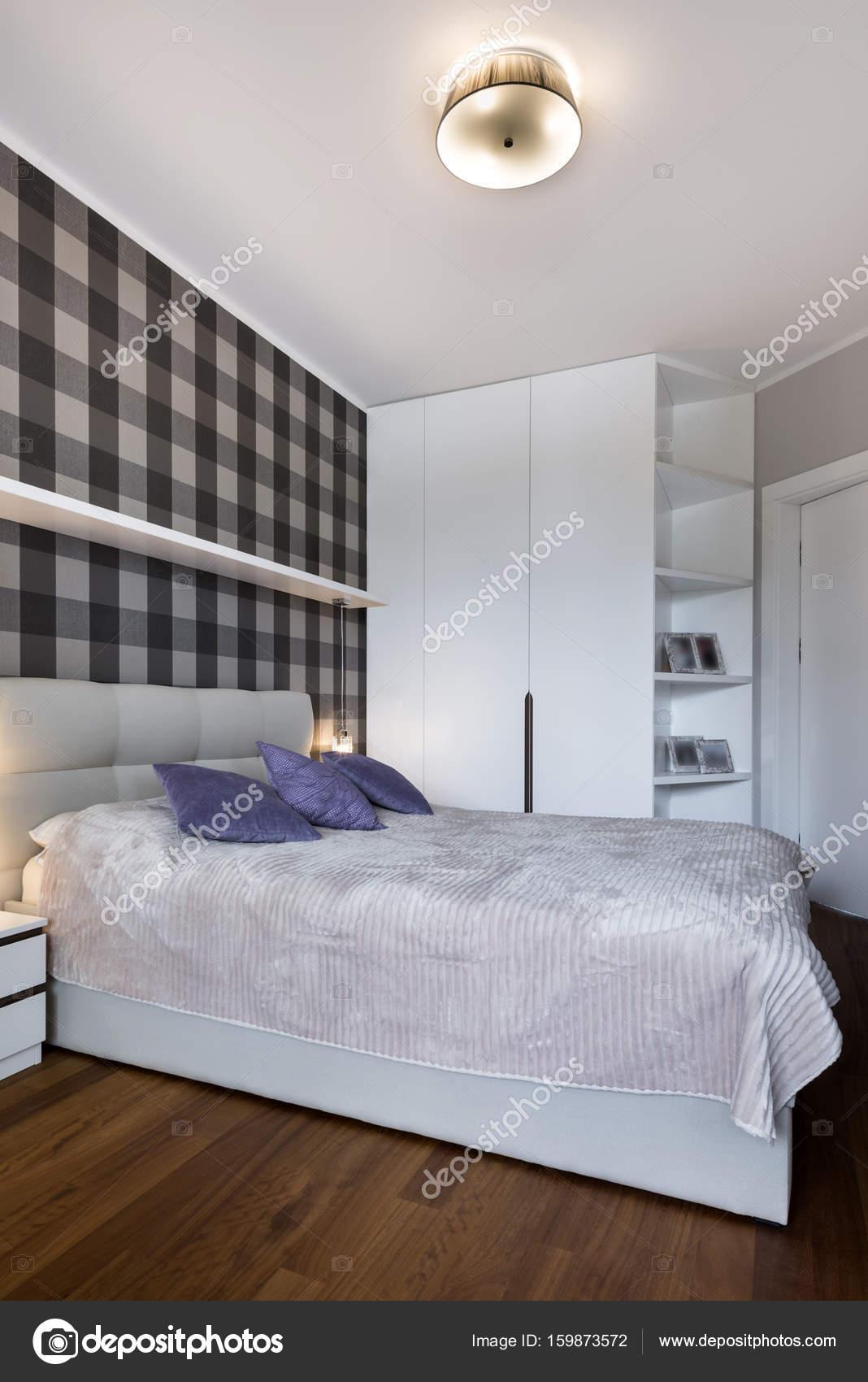 Chambre Moderne Avec Modèle Checkeru2013 Images De Stock Libres De Droits