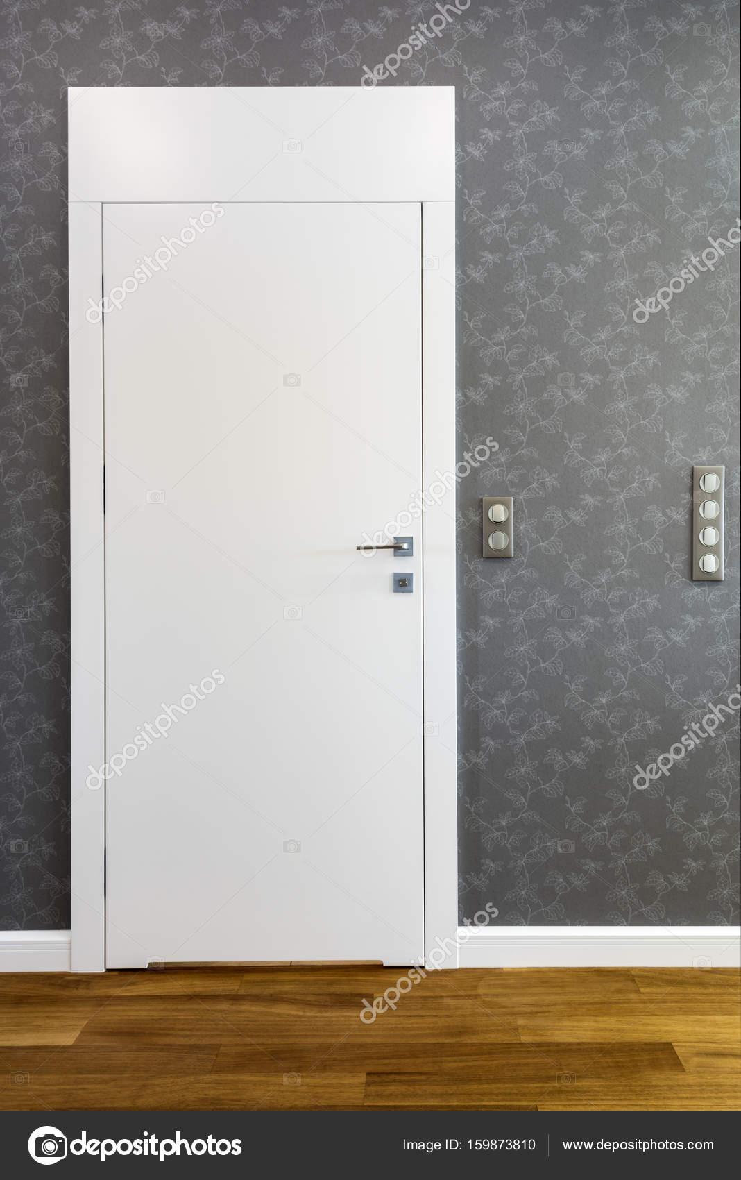 Zamknięte Drzwi Do łazienki Biały Zdjęcie Stockowe