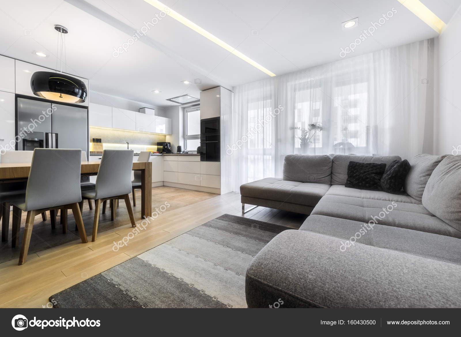 Moderne woonkamer en keuken u2014 stockfoto © jacek kadaj #160430500