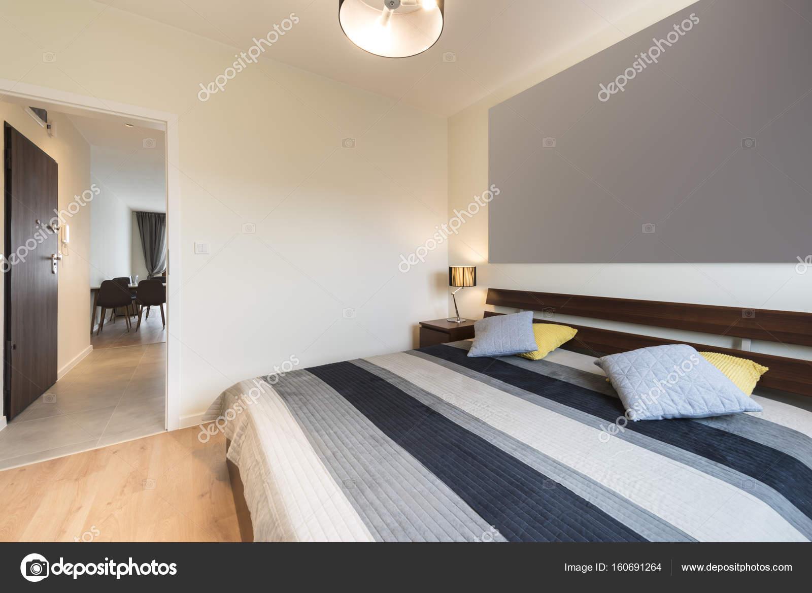 Moderne Schlafzimmer In Beige Ausführung U2014 Stockfoto
