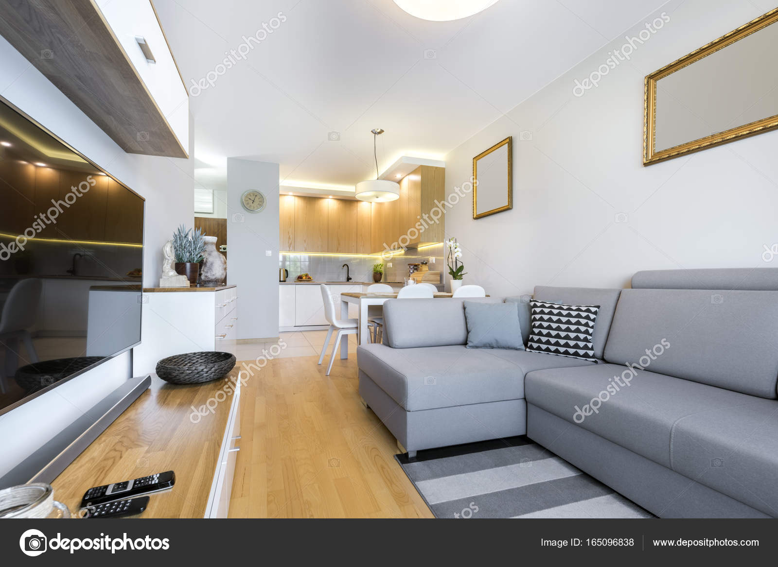 modern interieur woonkamer — Stockfoto © jacek_kadaj #165096838