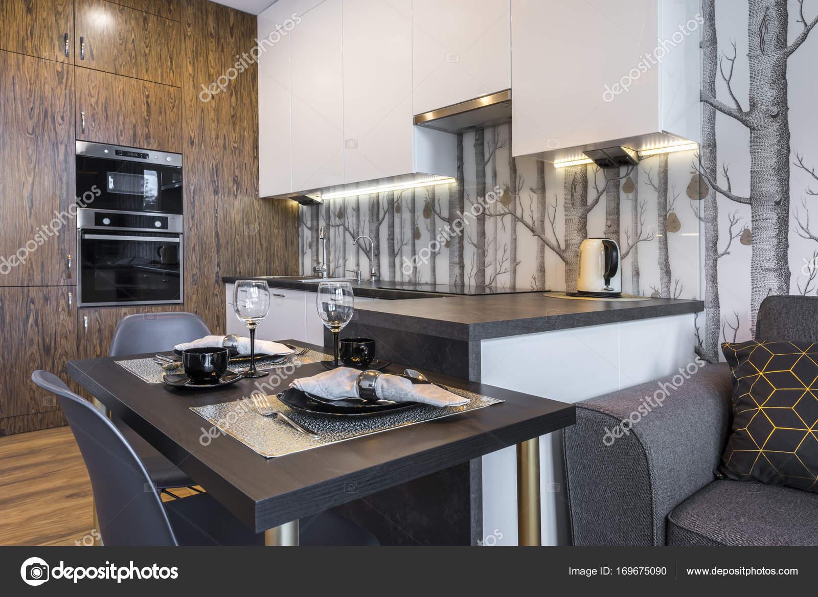 Modern interieur keuken u stockfoto jacek kadaj