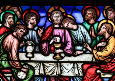 Last Supper - Stained Glass