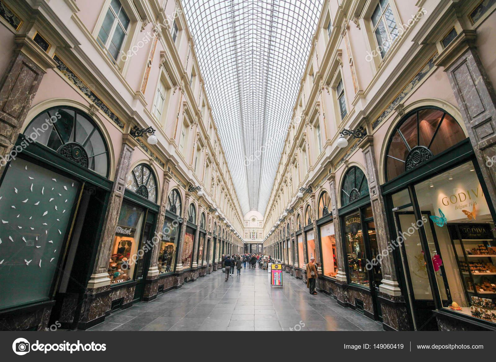 ff8b0330fbee4 The Galeries Royales Saint-Hubert (French) or Koninklijke  Sint-Hubertusgalerijen (Dutch) is a glazed shopping arcade in Brussels