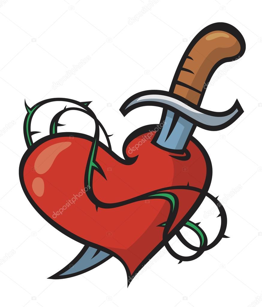 Dibujos Corazones Con Espadas Atravesadas Tatuaje Corazón Y