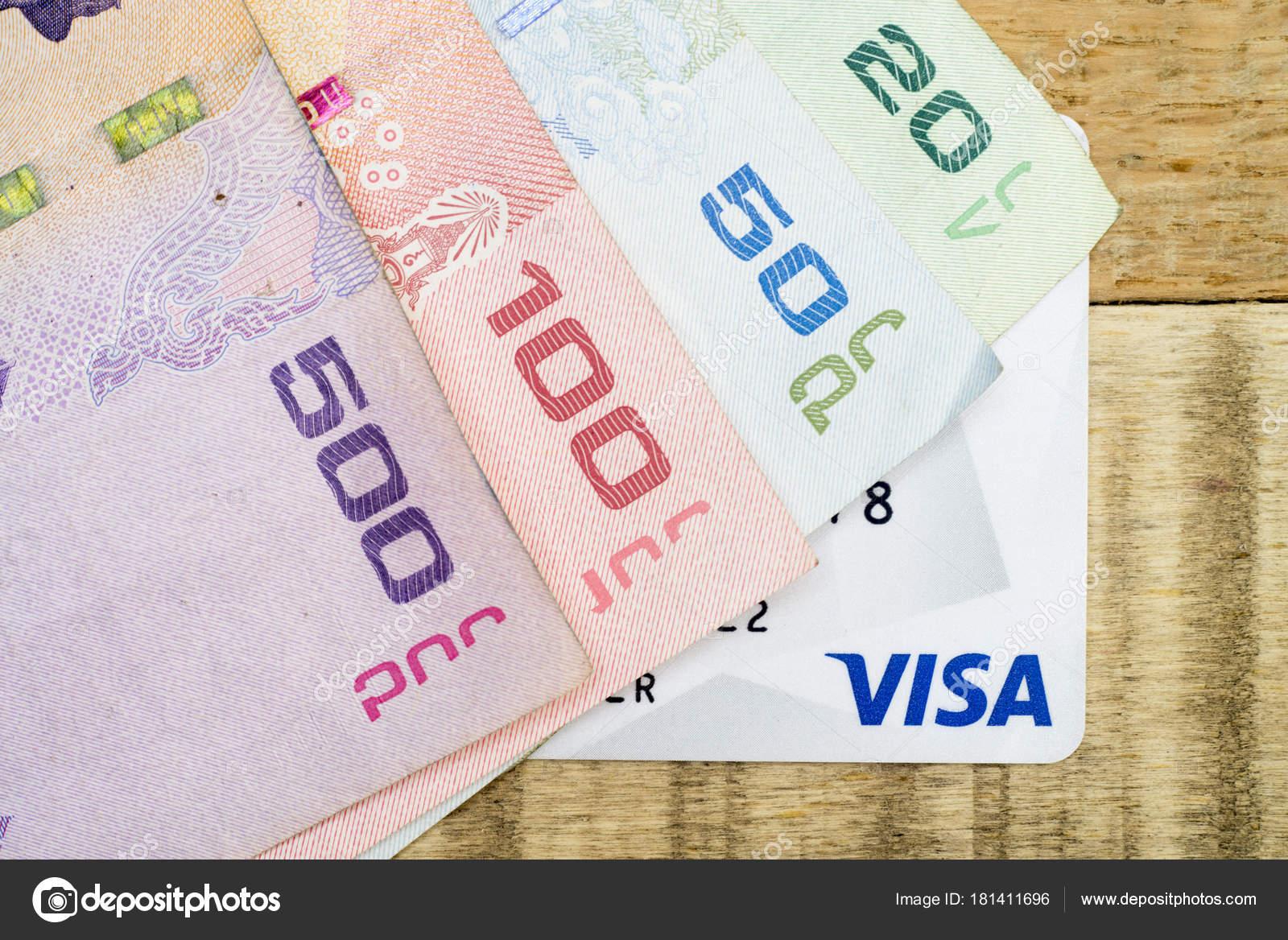 Gros Plan Billets Banque Thaïlandaise — Photographie bigjom ©  181411696 bed2e83147d