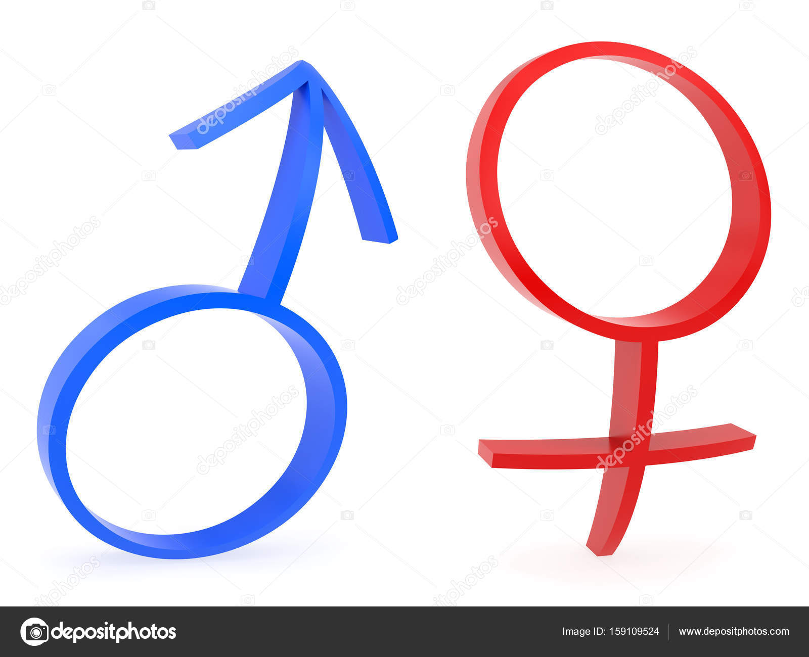 Curved Male And Female Gender Symbols Stock Photo Lostintrance