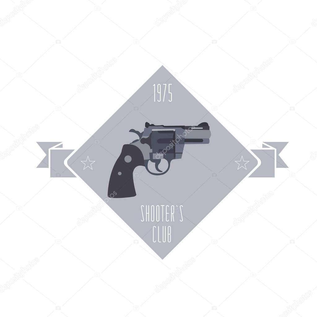 Rifle Stock Template | Firearm Logo Template Guns Rifles Badge Flat Design Stock