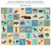 Fotografie Südamerika-Flora und Fauna flache Elemente. Tiere, Vögel und