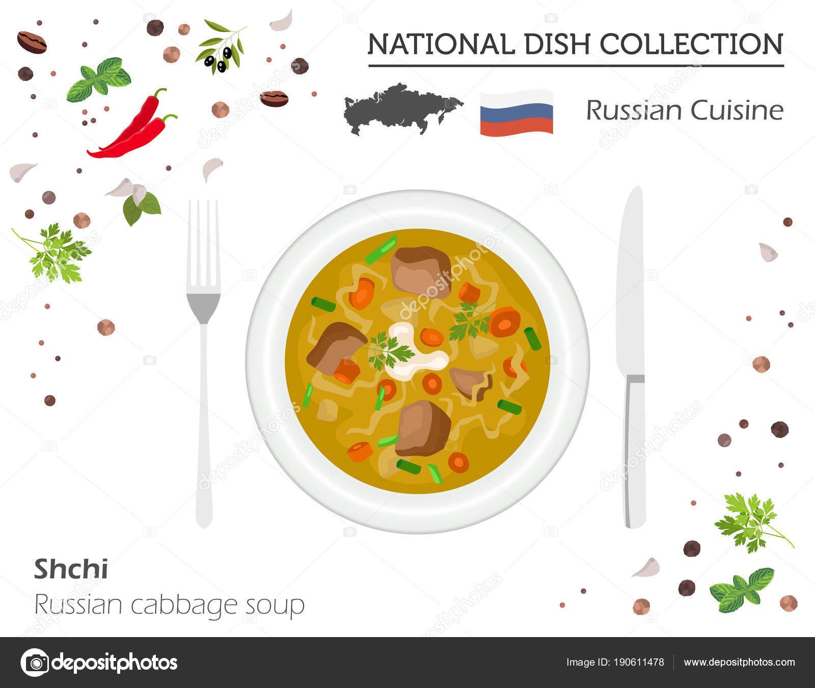 Dania Rosja Kolekcja Europejskiej Danie Narodowe Cabba