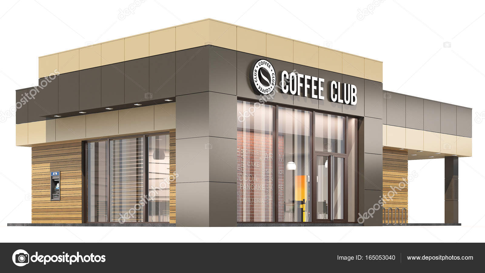 3d rendering of a coffee shop on white background stock photo 3d rendering of a coffee shop on white background photo by arsa35 malvernweather Gallery
